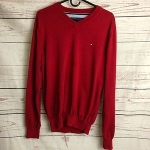 Tommy Hilfiger Sweaters - Tommy Hilfiger Apple Red V-neck Sweater